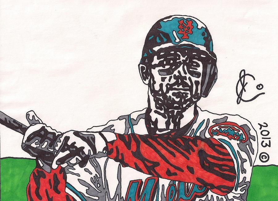 Baseball Drawing - David Wright 2 by Jeremiah Colley
