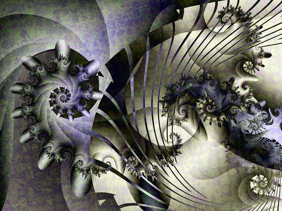 Fractal Digital Art - Davids Lyre by David April