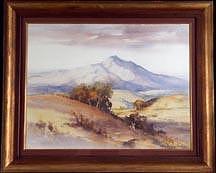 Davis Schwartz Mount Tamalpais Painting by Davis Schwartz