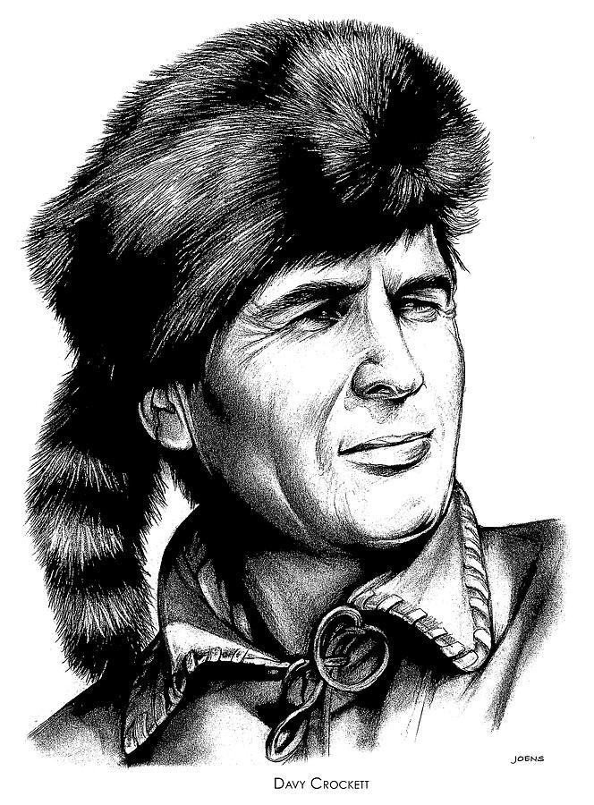 Davy Crockett Drawing - Davy Crockett by Greg Joens