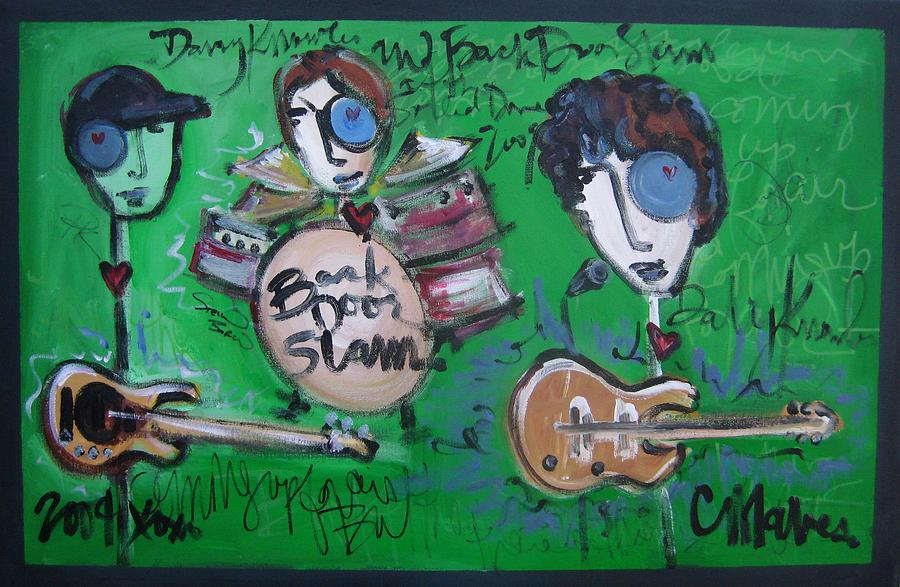 Davy Knowles Painting - Davy Knowles And Back Door Slam by Laurie Maves ART