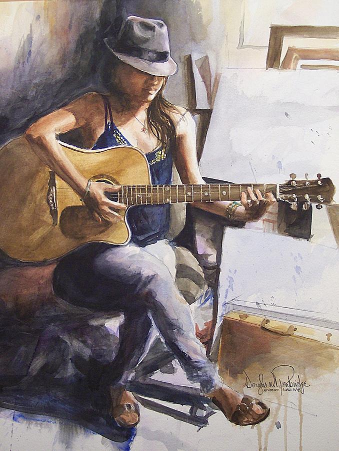 Music Painting - Dawb Leej - Studio Serenade by Douglas Trowbridge