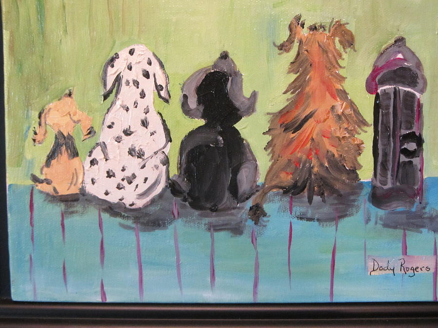 Dawg Painting - Dawg Outhouse by Dody Rogers