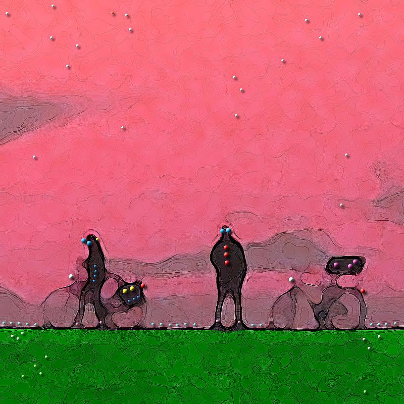Dawn - Auf Dem Deich Digital Art by Nils Denker