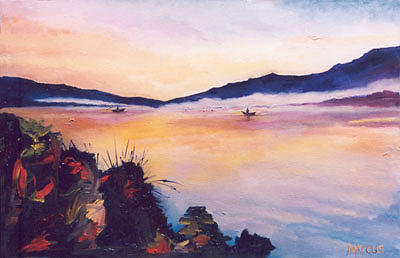 Dawn 1 Painting by Leslie Marcus