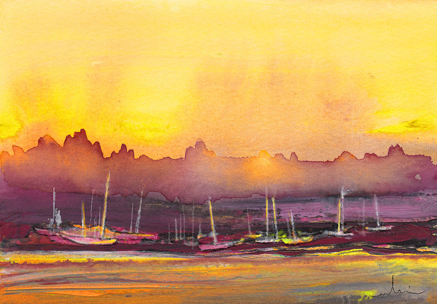 Landscapes Painting - Dawn 10 by Miki De Goodaboom