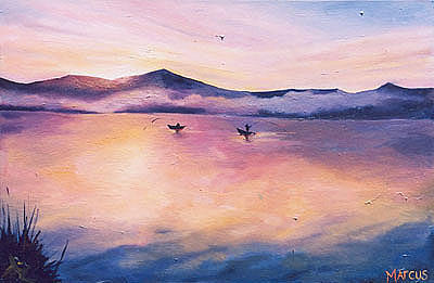 Dawn 2 Painting by Leslie Marcus
