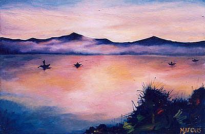 Landscape Painting - Dawn 3 by Leslie Marcus