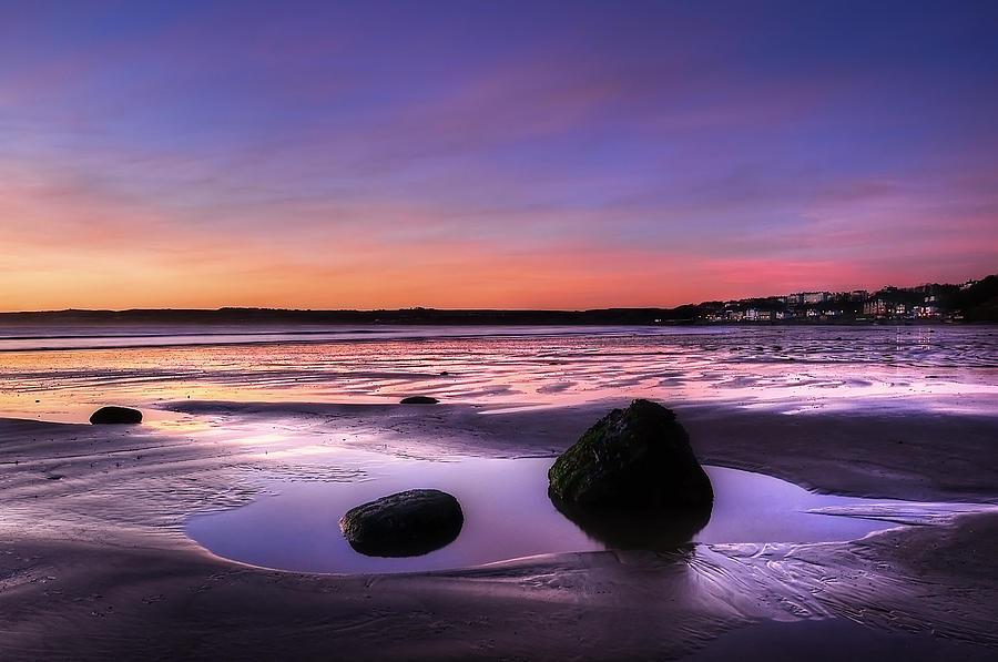 Bay Photograph - Dawn At Filey by Svetlana Sewell