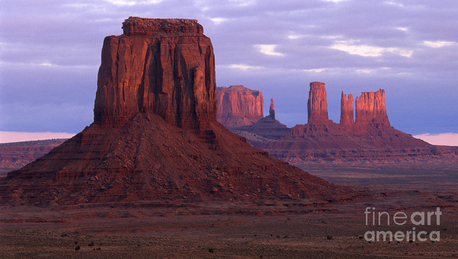 Monument Valley Photograph - Dawn At Monument Valley by Sandra Bronstein