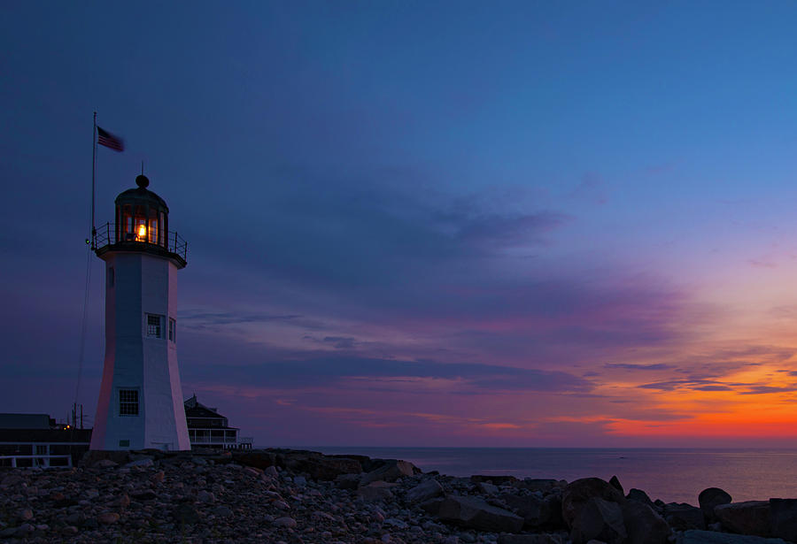 Dawn At Scituate Light by John Forde