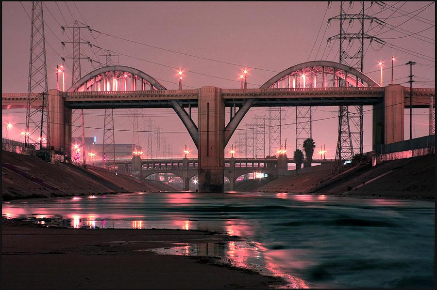 Dawn Photograph - Dawn At The 6th Street Bridge by Kevin  Break