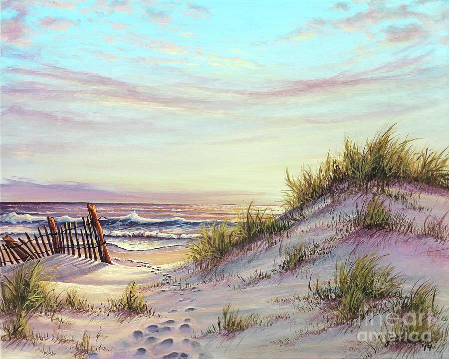 Dawn At The Beach Painting By Joe Mandrick