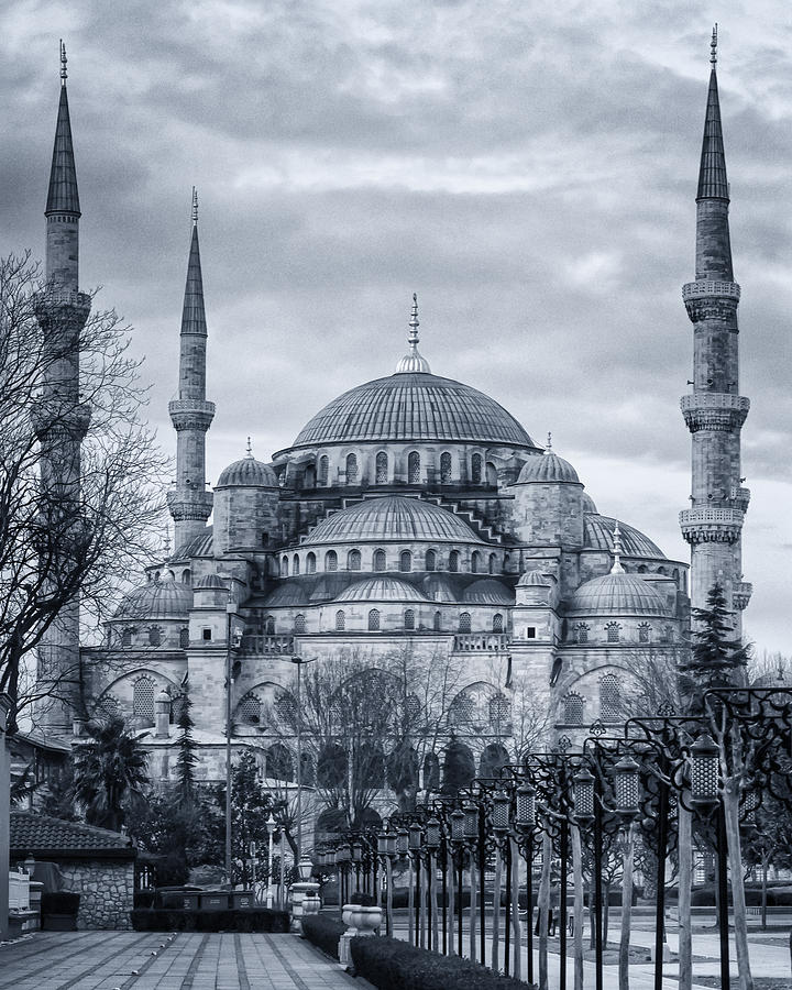 Architectural Photograph - Dawn At The Blue Mosque by Joan Carroll