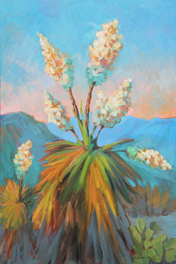 Desert Painting - Dawn At Yuccaland by Diane McClary