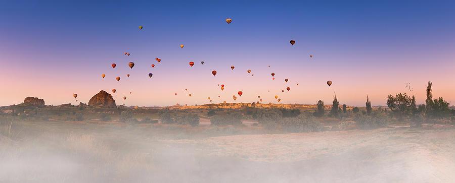 Travel Photograph - Dawn, Cappadocia by Marji Lang