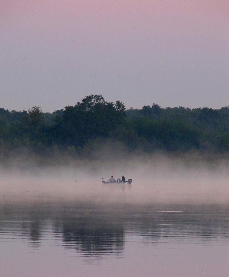 Digital Photograph - Dawn Fishing On Lake Manatee 08340 by Richard Porter