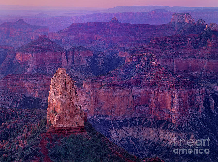 dawn mount hayden sunrise north rim grand canyon arizona by Dave Welling