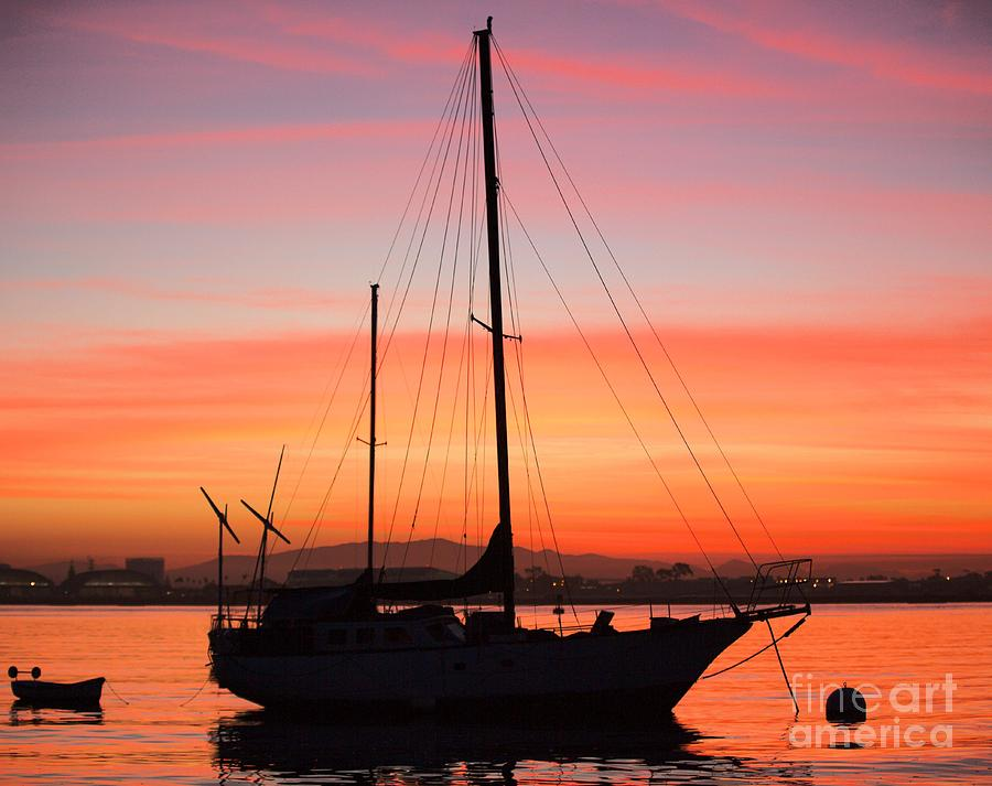 Sailboat Photograph - Dawn Of The Sailboat by Caroline Jeanine