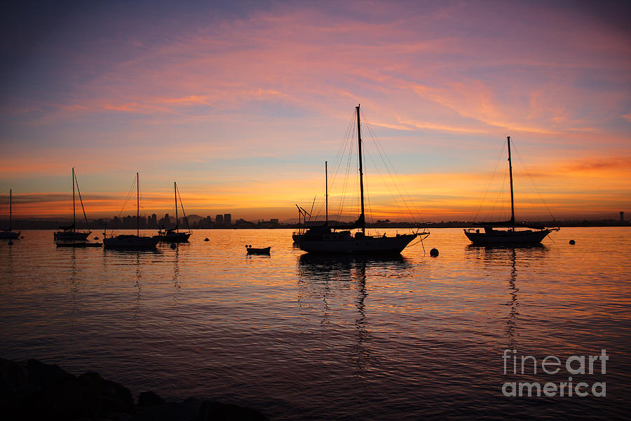 Dawn Photograph - Dawn On The Water by Caroline Jeanine