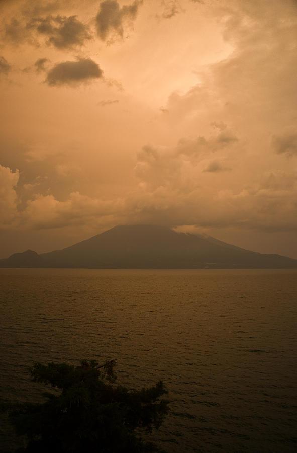 Central Photograph - Dawn Over The Volcano 2 by Douglas Barnett