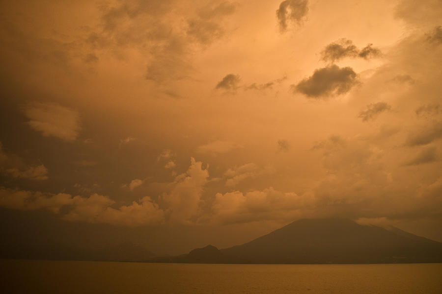 Central Photograph - Dawn Over The Volcano 3 by Douglas Barnett