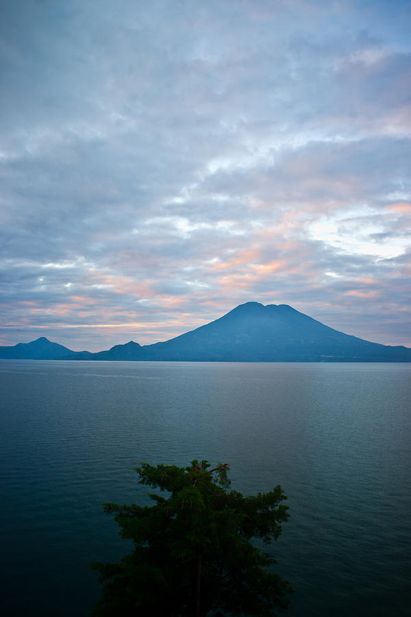 Central Photograph - Dawn Over the Volcano 4 by Douglas Barnett