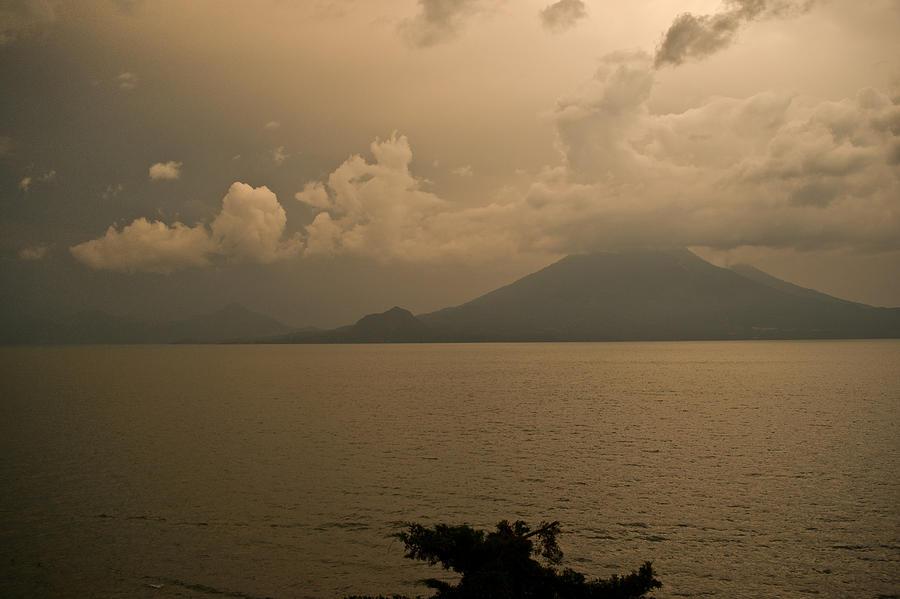 Dawn Photograph - Dawn Over The Volcano by Douglas Barnett