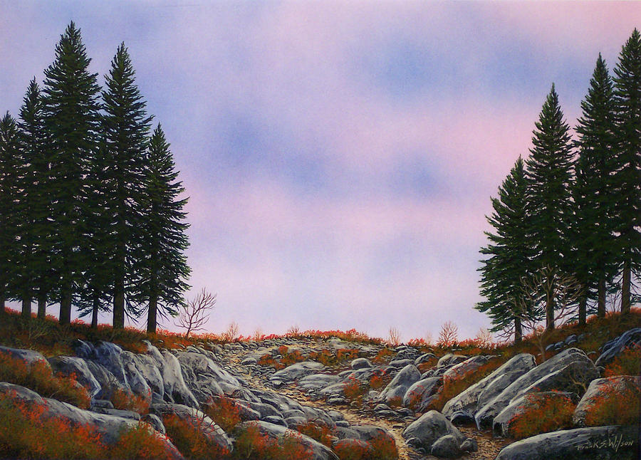 Landscape Painting - Dawn Pacific Crest Trail by Frank Wilson