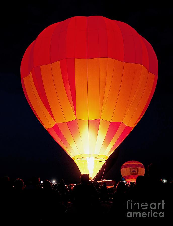 Pursuit Photograph - Dawn Patrol Balloon Fiesta by Jim Chamberlain