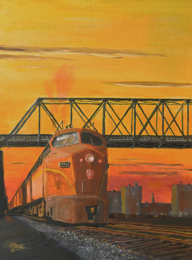 Train Painting - Dawn Patrol by Christopher Jenkins