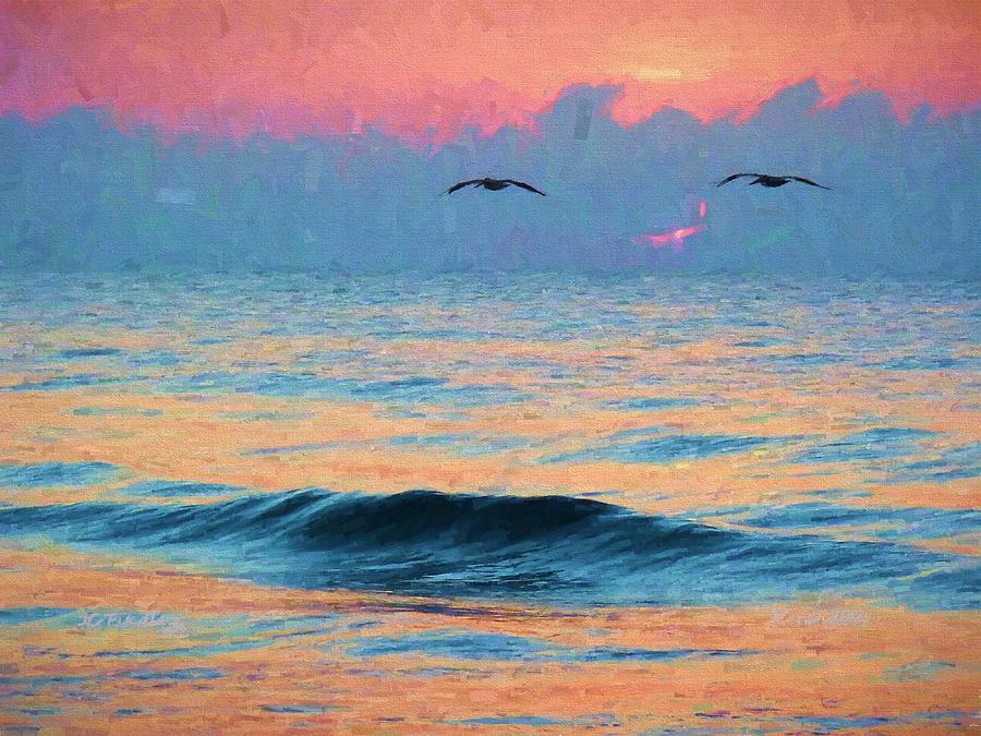 Pelican Photograph - Dawn Patrol by JC Findley