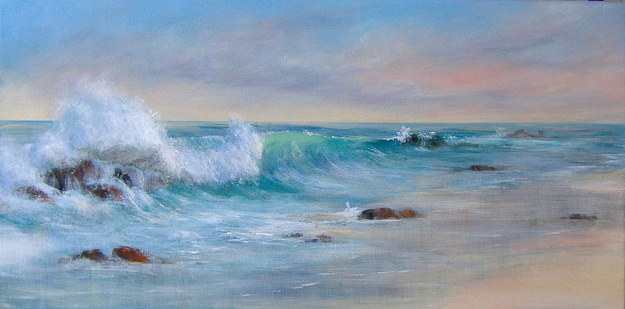 Sea Painting - Dawn by Rita Palm