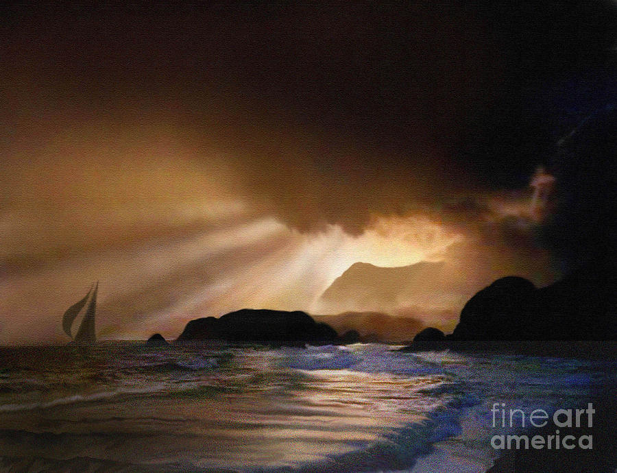 Seascape Painting - Dawn Sail by Robert Foster