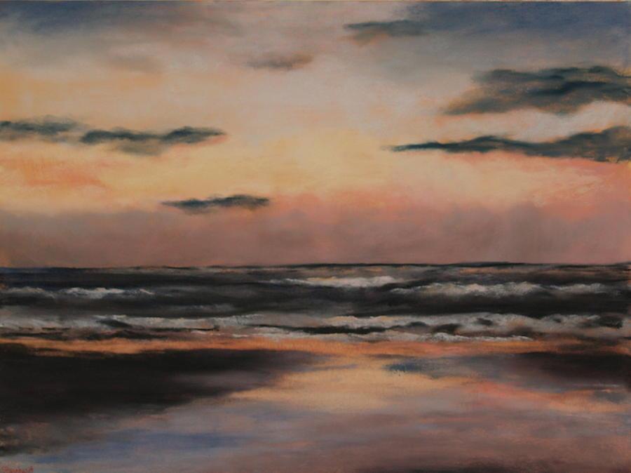 Beach Painting - Dawn by Sarah Bernhardt