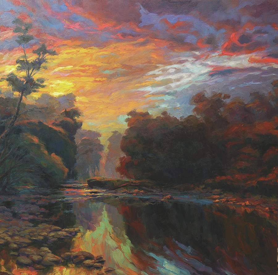 Country Painting - Dawn by Steve Henderson