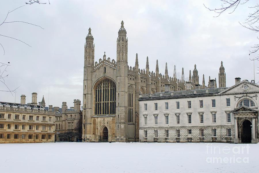 Dawn Sunshine Hit Kings College Chapel On Christmas Eve. Photograph ...