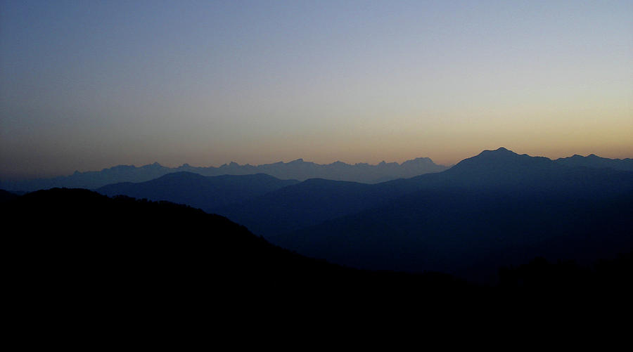 India Photograph - Dawn View Of The Garhwal Himalayas From Kunjapuri Temple, India by Misentropy