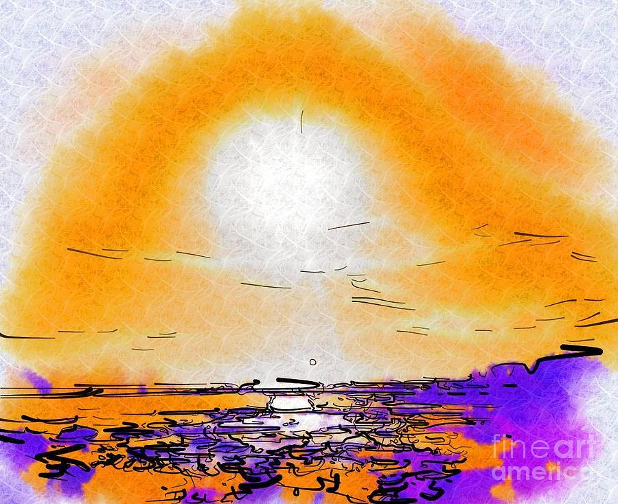 Sunset Painting - Dawning by Deborah MacQuarrie-Selib
