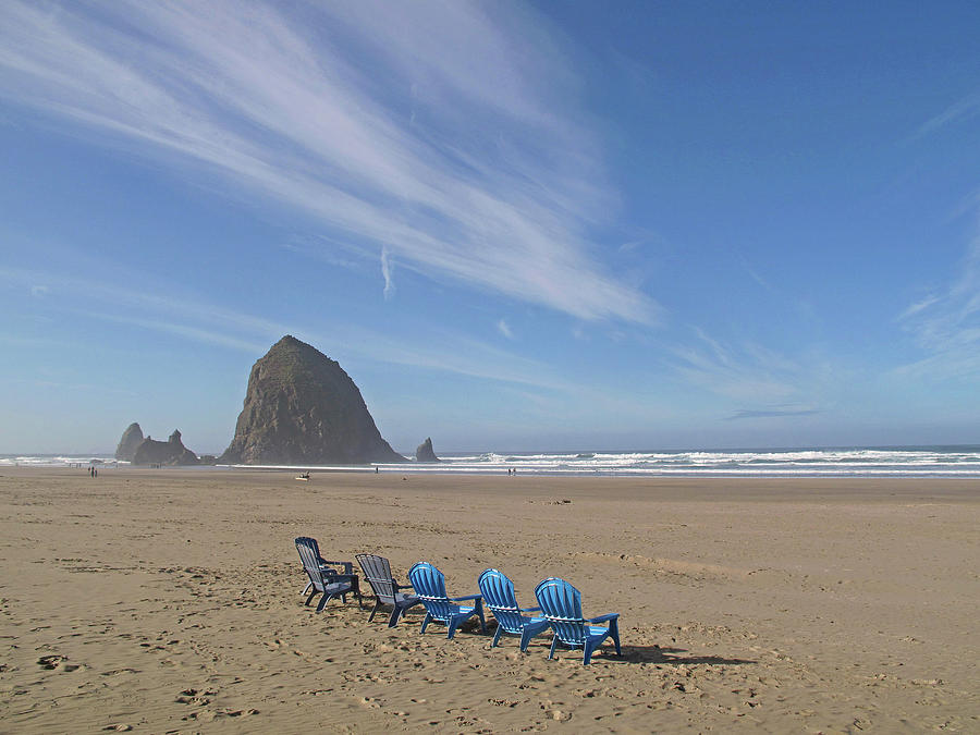 Day at Haystack Rock by Suzy Piatt
