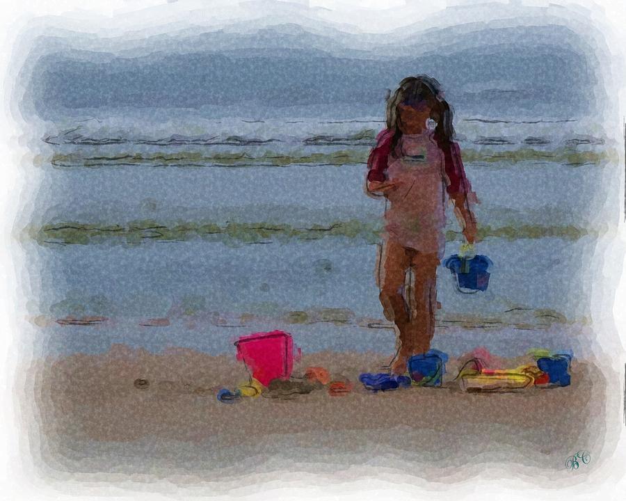 Beach Digital Art - Day At The Beach by Buddy Campbell