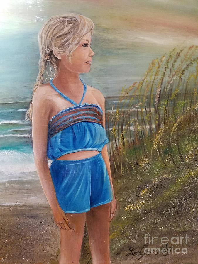 Day At The Beach Painting By Lynda Carter