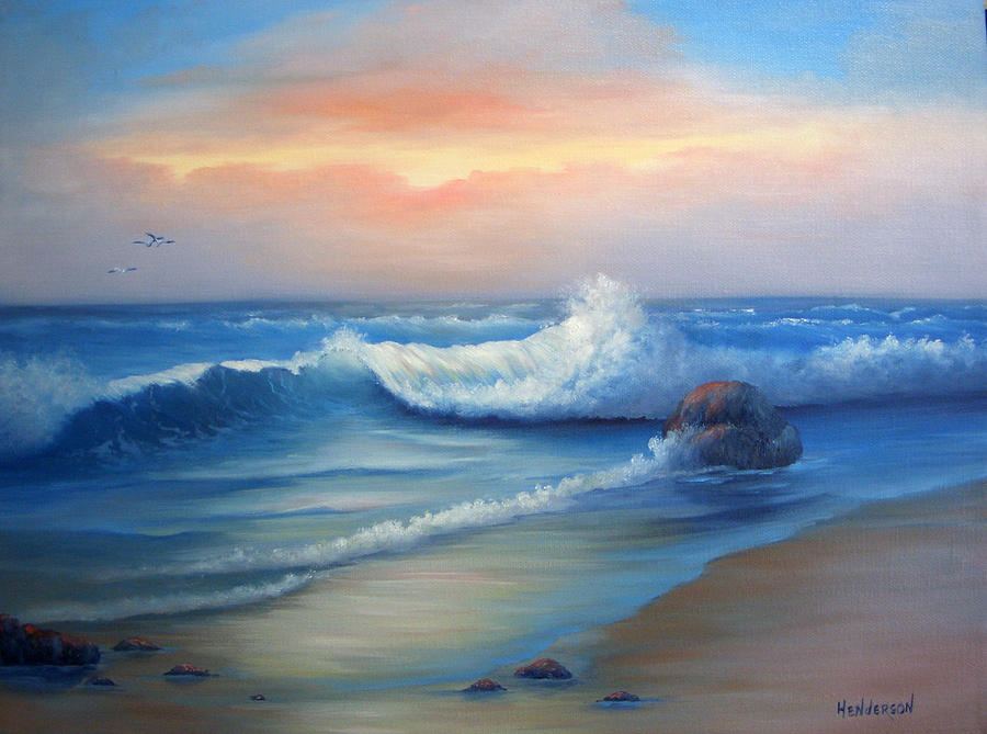 Seascape Painting - Day Break by Francine Henderson