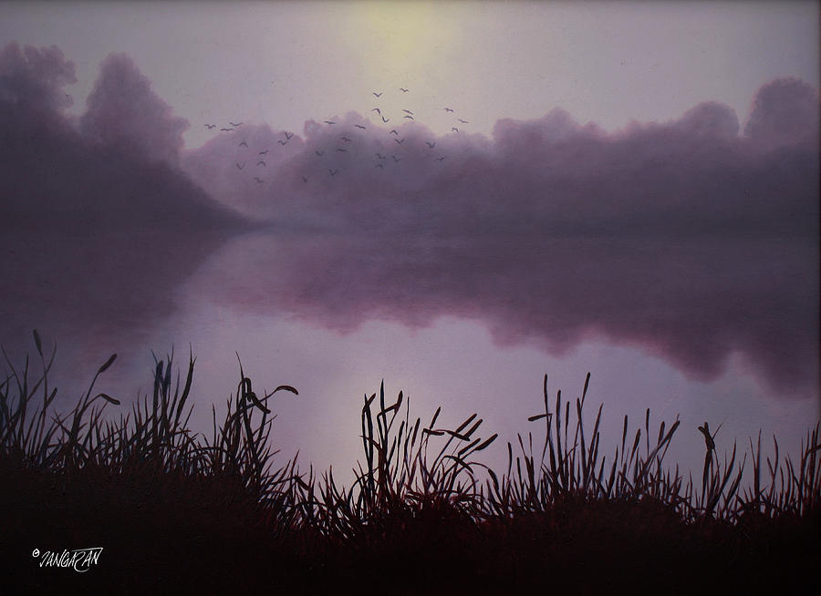 Oil Painting Drawing - Day Break by Tim Dangaran