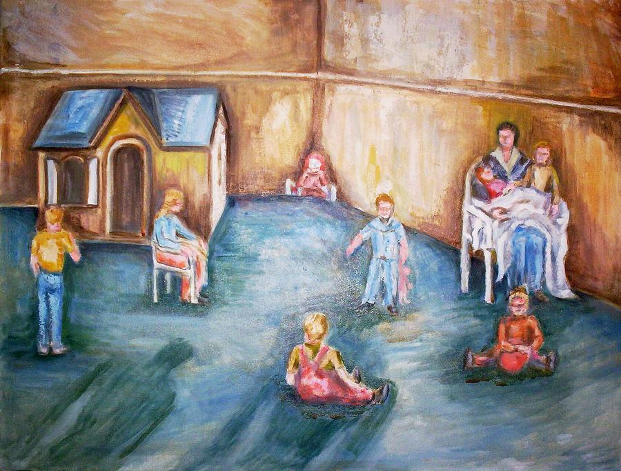 Day Care Painting by Joseph Sandora Jr