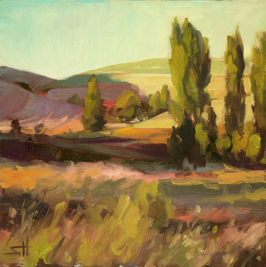 Country Painting - Day Closing by Steve Henderson