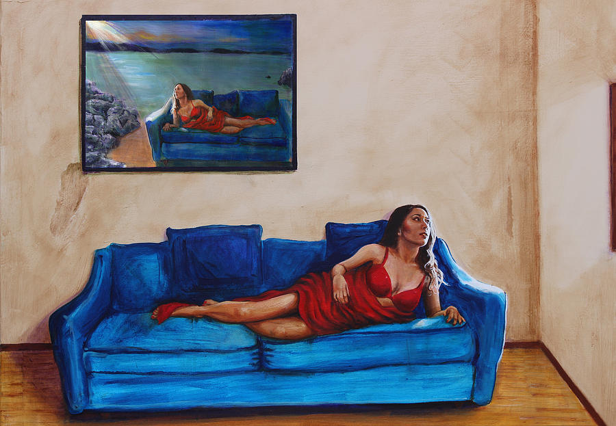 Beauty Painting - Day Dream 13 by Charles Bickel