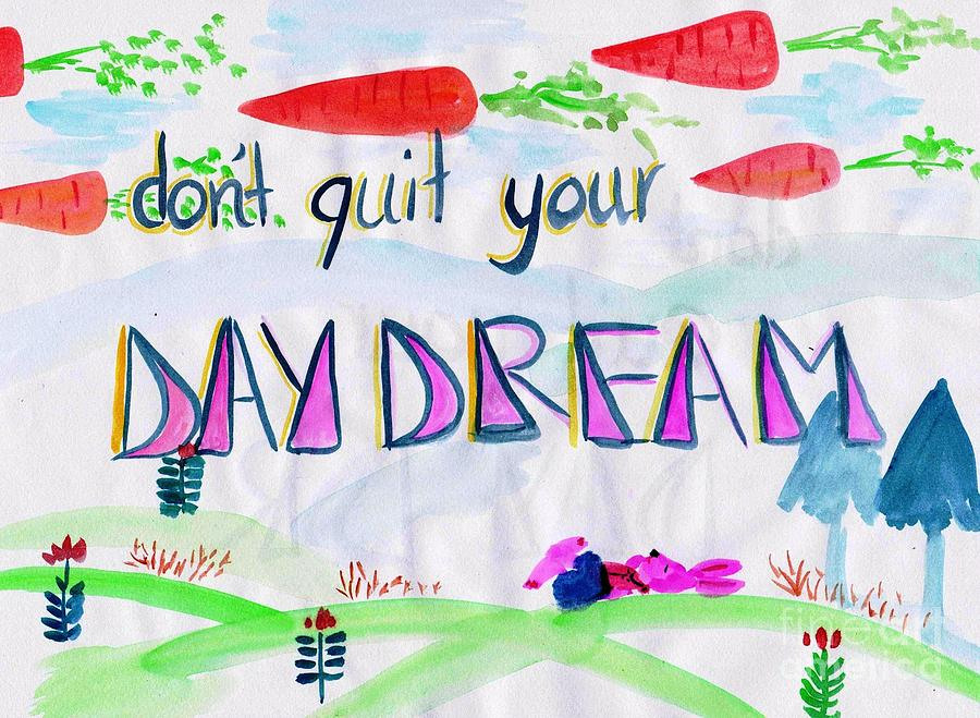 Wall Decor Painting - Day Dream by Sweeping Girl