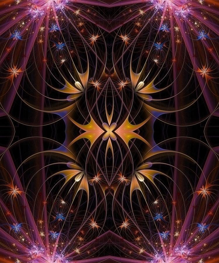Fractal Digital Art - Day Dreaming by Gayle Odsather