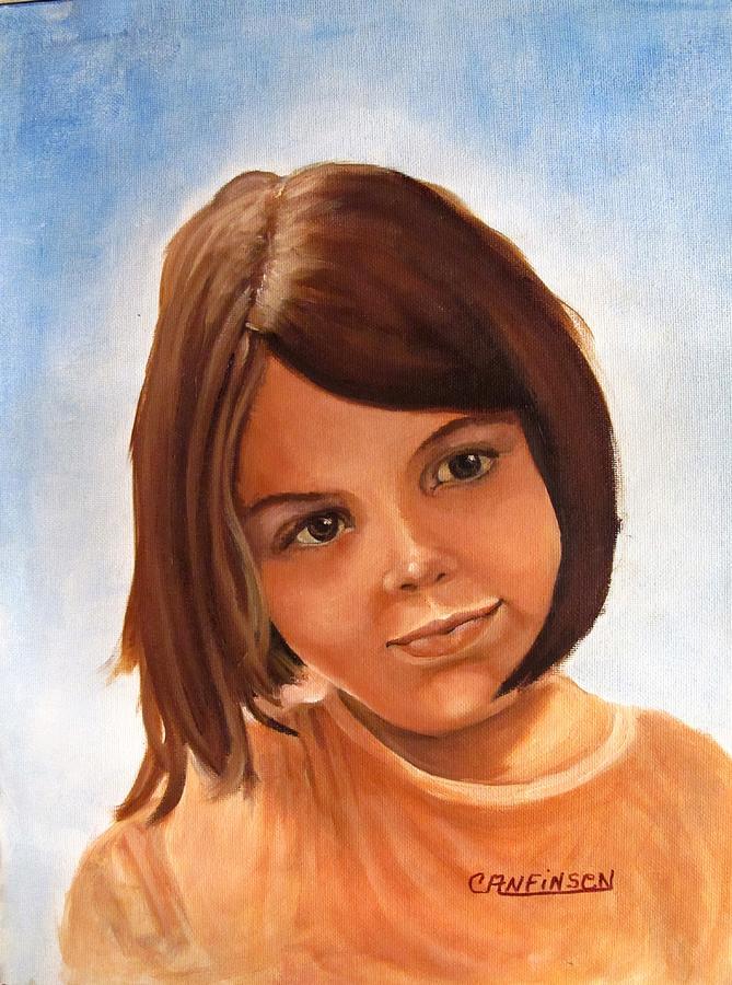 Child Painting - Day Dreams by Carol Allen Anfinsen